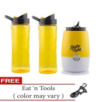 Shake N Take 3 Blender 16oz (Yellow) with Free Eat n Tools (Color May Vary)