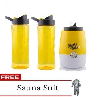 Shake N Take 3 Blender 16oz (Yellow) with Free Sauna Suit (Size May Vary)
