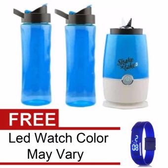 Shake n Take 3 Tumbler & Blender (Blue)with Free Led WatchColor May Vary