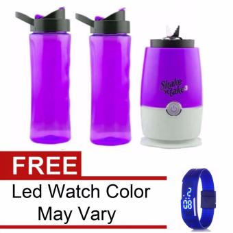 Shake n Take 3 Tumbler & Blender (Violet) with Free Led WatchColor May Vary