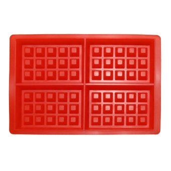 Silicone 4-Cavity Waffles Cake Chocolate Pan Baking Mould DonutMaker - intl