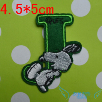 Snoopy cute lettered ironing stickers