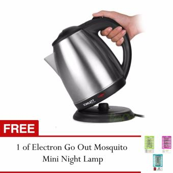 SNS Scarlett SC-1617A Electric Kettle 1.7 Liter and USB MiniCooling Fan (blue) with FREE 1 of Electron Go Out Mosquito MiniNight Lamp-1