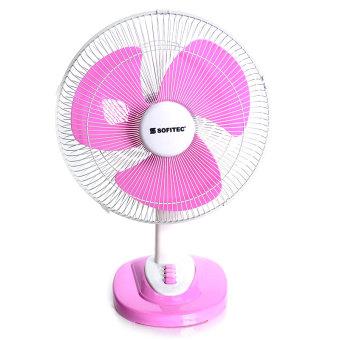 "Sofitec SEF-9006-16 16"" Desk Fan (Pink)"