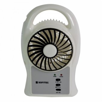 Sofitec SRP-2401 Rechargeable Multifunctional Fan (White)