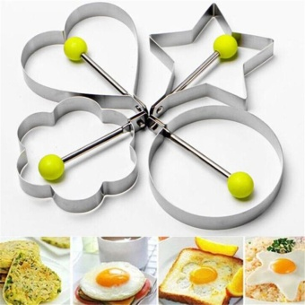 Stainless Steel Fried Egg Shaper egg Pancake Ring Mould MoldKitchen Cooking Tools Stainless Steel DROP SHIP - intl