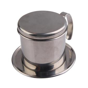 Stainless Steel Metal Vietnamese Coffee Drip Cup Filter Maker Strainer Silver
