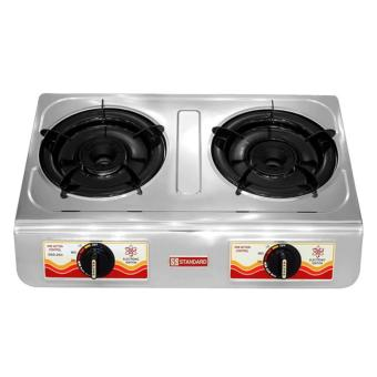Standard SGS202i Double Burner Gas Stove (Silver)