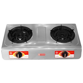 Standard SGS234i Double Burner Gas Stove (Silver)