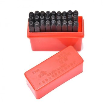 Steel Punch Stamp Die Set Metal 27pcs Stamps Letters Alphabet CraftTools 2MM