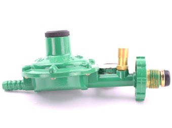 Sunco LPG Regulator with Pressure Gauge (Green) - 2