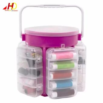 Super Costurero 210-Piece Sewing Kit Storage Caddy Organizer (Pink)