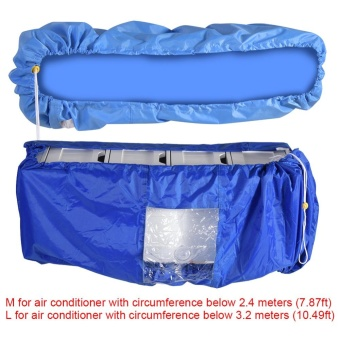 TMISHION Air Conditioner Cleaning Dust Washing Cover WaterproofProtector (Blue Color L) - intl - 2