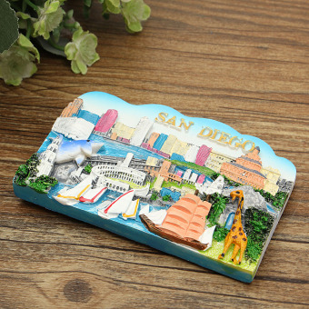 TOURIST SOUVENIR 3D Resin Travel Fridge Magnet --- San Diego , USA- intl