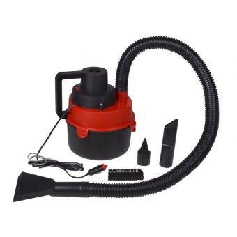 Wet and Dry Portable Car Vacuum Cleaner (Red)