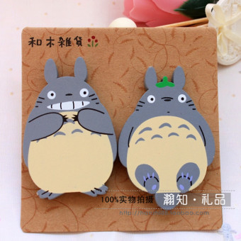 Wooden small Totoro photo stickers magnet stickers refridgerator Magnets