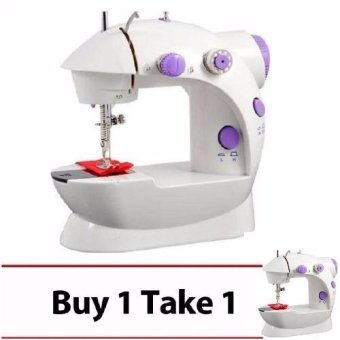 XZY Double Thread Sewing Machine with Foot Pedal and Adapter(White-Lavender)BUY 1TAKE 1 Price Philippines