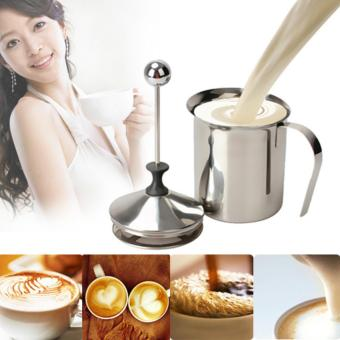 YBC 800mL Stainless Steel Milk Frother Milk Creamer Foam DoubleMesh Price Philippines