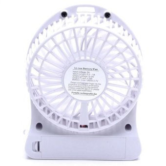 ZDL-F68 Portable Lithium Battery Rechargeable Fan (White) Set Of 3 - picture 2