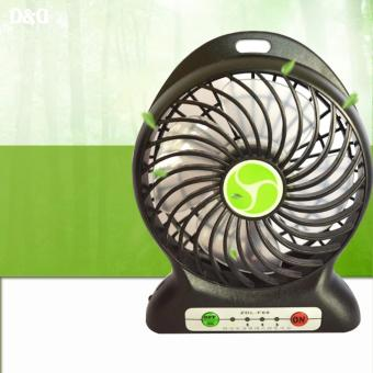 ZDL-F68 Portable Mini USB Rechargeable Fan (Black)