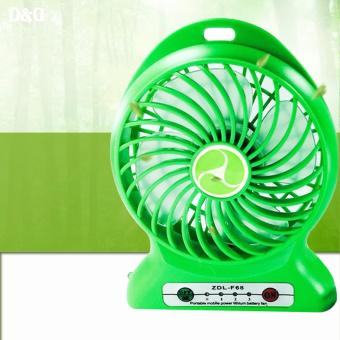ZDL-F68 Portable Mini USB Rechargeable Fan (Green)