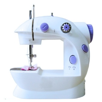 Zover 2-Speed Double Thread Mini Electric Sewing Machine Kit SewsAll Sorts of Fabrics (White/Lavender)