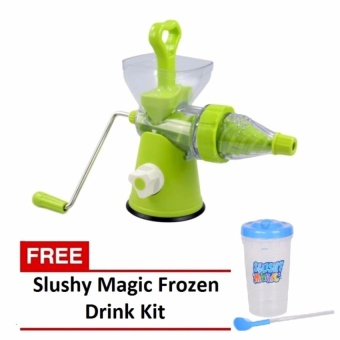 Zover Multi-function Manual Juicer Great for Wheatgrass and LeafyVegetables 400ml Capacity (Green) with FREE Slushy Magic FrozenDrink Kit