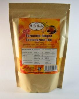 3 x Turmeric, Ginger and Lemongrass Tea 500 gms Pouch - 2