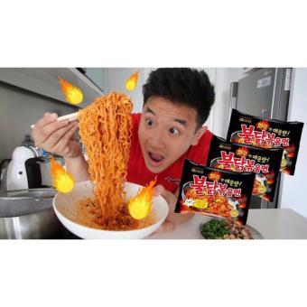 5 Pcs in 1 Pack Samyang Korean Super Spicy Ramen Noodle - 4
