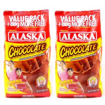 Alaska Chocolate Powdered Milk 800g - Set of 2