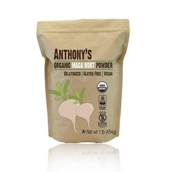 Anthony's Organic Maca Root Powder Gelatinized (454g) with Free Arm& Hammer Fridge-N-Freezer Baking Soda 14oz (396.8g)