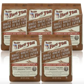 Bob's Red Mill - 100% Stone Ground Whole Wheat Flour, 1.36kg Set of5