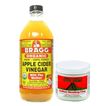 Bragg Apple Cider Vinegar 473ml Bundle with Aztec Secret IndianHealing Clay Deep Pore Cleansing 454g
