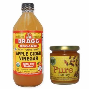 Bragg Organic Apple Cider Vinegar (Small) 473ML Bundled with Natural Pure Honey