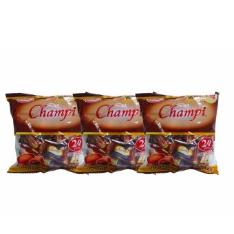 Brown Colombia's Champi Choco Filled Chewy Chocolate Candy 20pcs22g 3's 807916 w51 (MP)