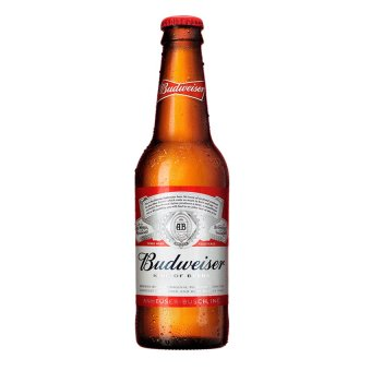 Budweiser King Of Beers Box of 24 Bottles, 355ml