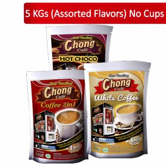 C5-COM-1 Chong Coffee 3 in 1 (2 Kilos), Hot Choco (2 Kilos) andWhite Coffee (1 Kilo) No Cups - Chong Cafe Phils