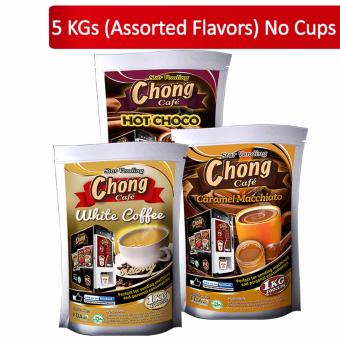 C5-COM-4 Chong Hot Choco (2 Kilos), White Coffee (2 Kilos) andCaramel Macchiato (1 Kilo) No Cups - Chong Cafe Phils