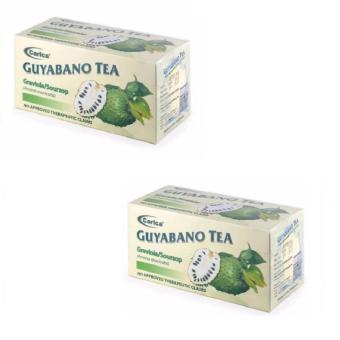 Carica Guyabano / Graviola / Soursop (Annona muricata) Tea - Box of30 Tea bags (2g per tea bag)  Set of 2