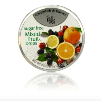 Cavendish & Harvey Sugar free Mixed Fruit Drops 170 grams