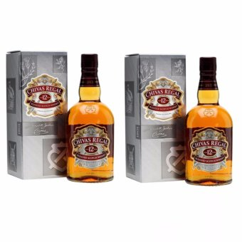 Chivas Regal 12 Year Old Blended Scotch Whisky (1 Litre, 40.0%),Set of 2