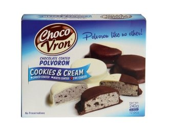 Chocovron Chocolate Coated Cookies and Cream Polvoron