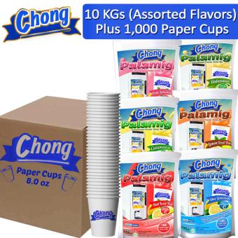 CP10C-ALL-10 Chong Palamig Lemon Iced Tea (2 Kilos), Red Iced Tea(2 Kilos), Blue Lemonade (2 Kilos), Pink Lemonade (2 Kilos),Dalandan (1 Kilo) and Calamansi (1 Kilo) Plus 1000 Paper Cups