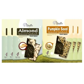 Dahtien Baked Almond Seaweed Sandwich and Dahtien Baked Pumpkin Seaweed Sandwich 6-piece Set - picture 2