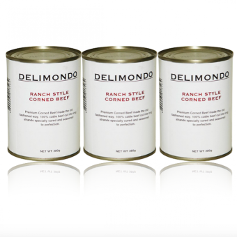 Delimondo Ranch Style Corned Beef Set of 3