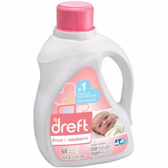 Dreft Stage 1 Newborn Liquid Laundry Detergent (He) 64Loads 100oz