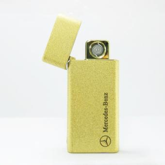 Electric Cigarette Lighter Metal USB Rechargeable ( GOLD )