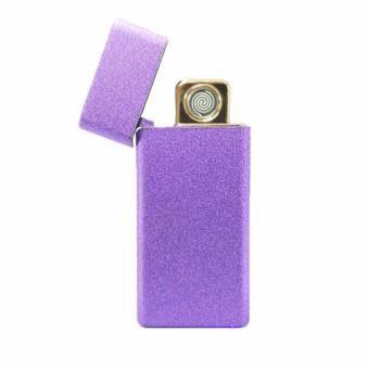 Electric Cigarette Lighter Metal USB Rechargeable ( VIOLET )