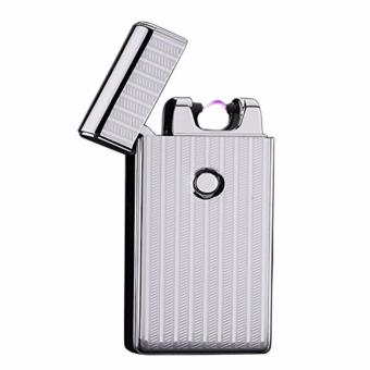 Electronic Rechargeable Windproof Arc Lighter Classic (Silver)