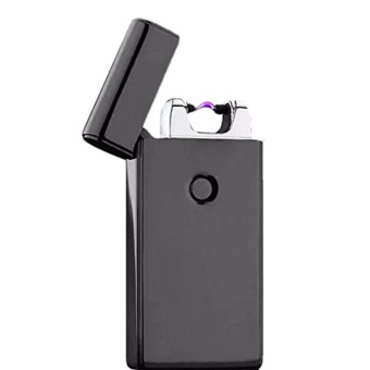 Electronic Rechargeable Windproof Arc Lighter (color black,silver,gold)